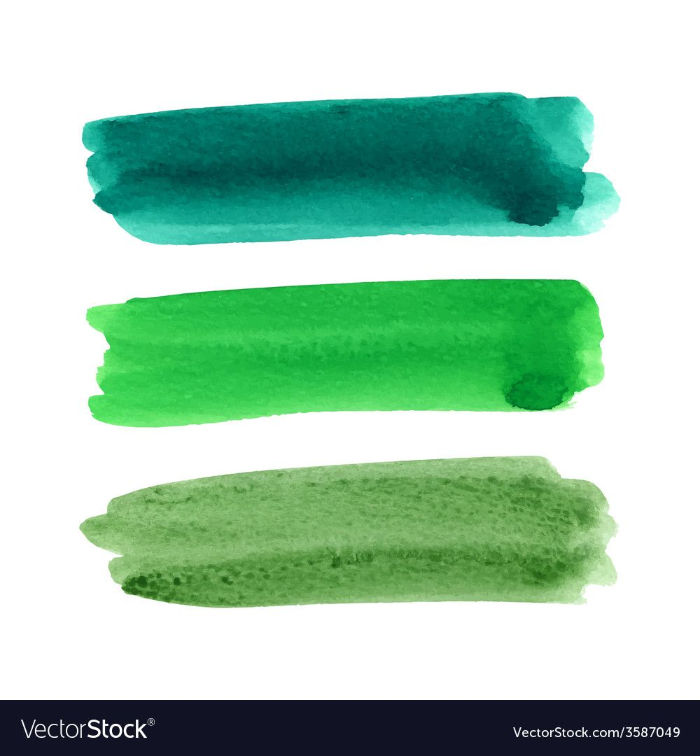 Watercolor Brush Stroke Set Vector Image On Watercolor Brushes