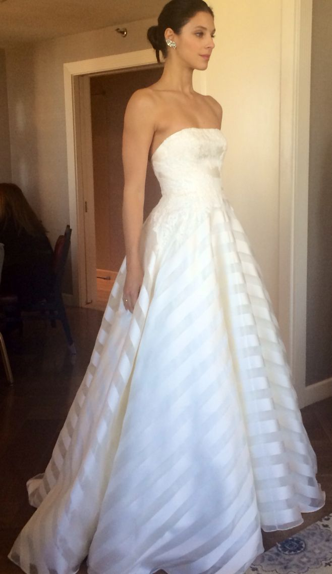 anne barge fall 2015 striped wedding dressesmodern