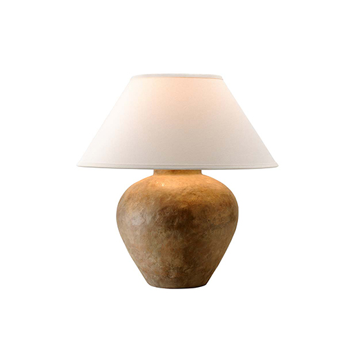 Troy Calabria Reggio Table Lamp With Linen Shade Ptl1009 Bellacor Troy Lighting Table Lamp Lamp