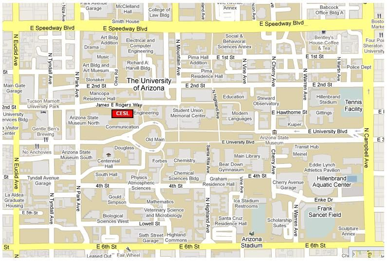 Image result for university of arizona map | The University of