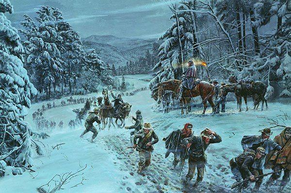 The Winds of Winter by Mort Kunstler (http://www.mortkunstler.com/product_images/144_2.jpg)