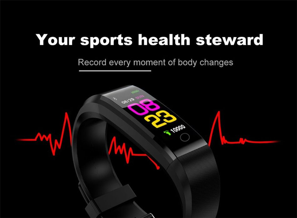 New Smart Watch Men Women Heart Rate Monitor Blood Pressure Fitness Tracker Smartwatch Sport Watch for ios android +BOX #sportswatches