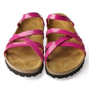 4d32b4baa5ee Betula by Birkenstock Stripes Cross Patent Ladies Sandal