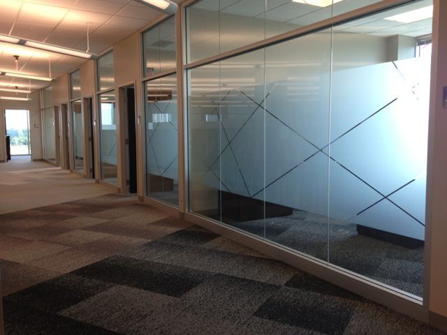 great clips corporate office had frosted film applied to