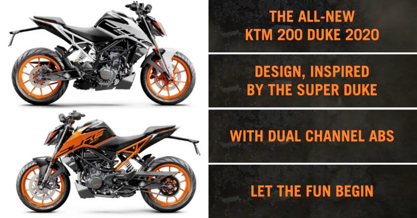 2020 Ktm Duke 200 Officially Teased 2 Channel Abs Confirmed In