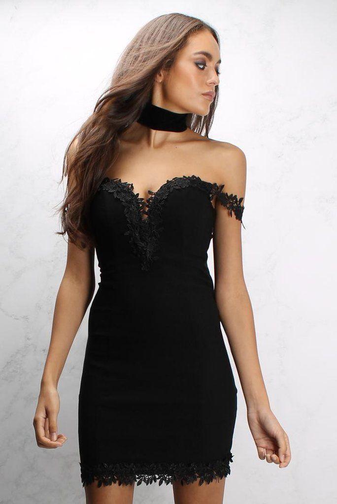 Vestido Negro Bardot - 1001noches