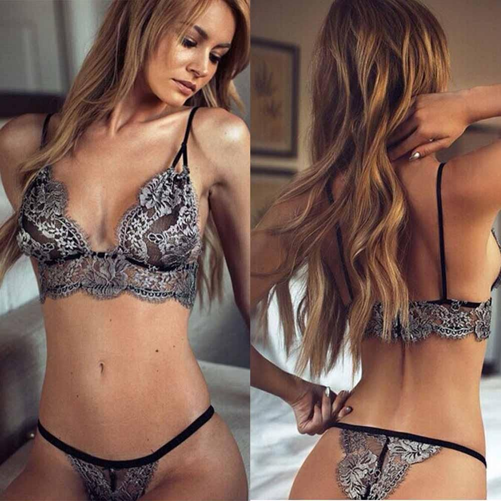 2.68 - Hot Women Lingerie Corset Lace Push Up Vest Top Bra Set Underwear  Suit By J  ebay  Fashion 09baff394
