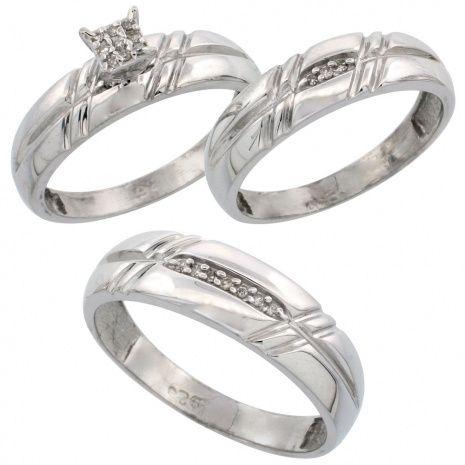Trio Rings Wedding Sets