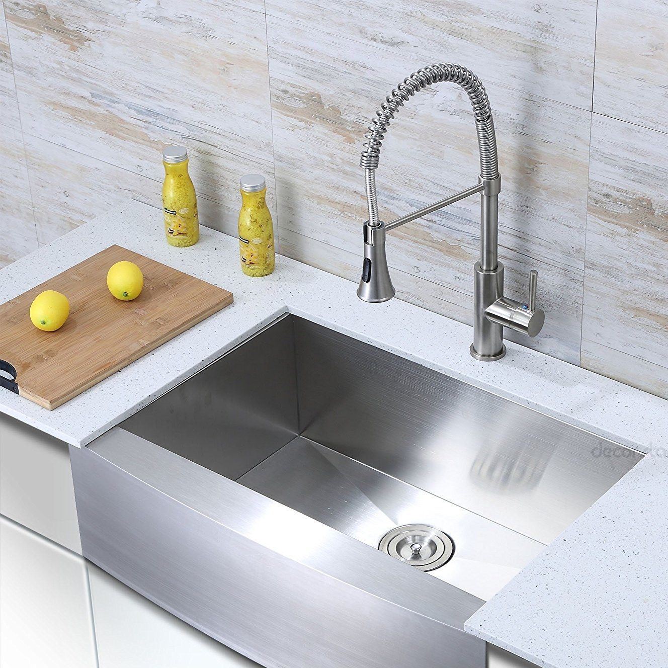 Stainless Steel Farmhouse Sinks Discover The Best Stainless Steel Apron Front Sinks For You Farmhouse Sink Kitchen Apron Sink Kitchen Single Bowl Kitchen Sink
