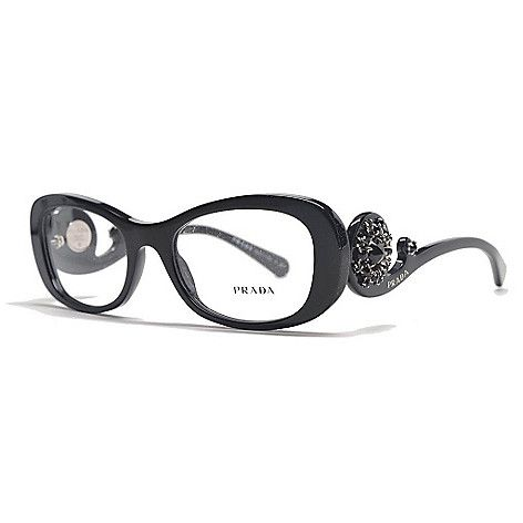 08641f42d64 728-295 - Prada Baroque Swirl Arm Oval Frame Limited Edition Eyeglasses w   Case