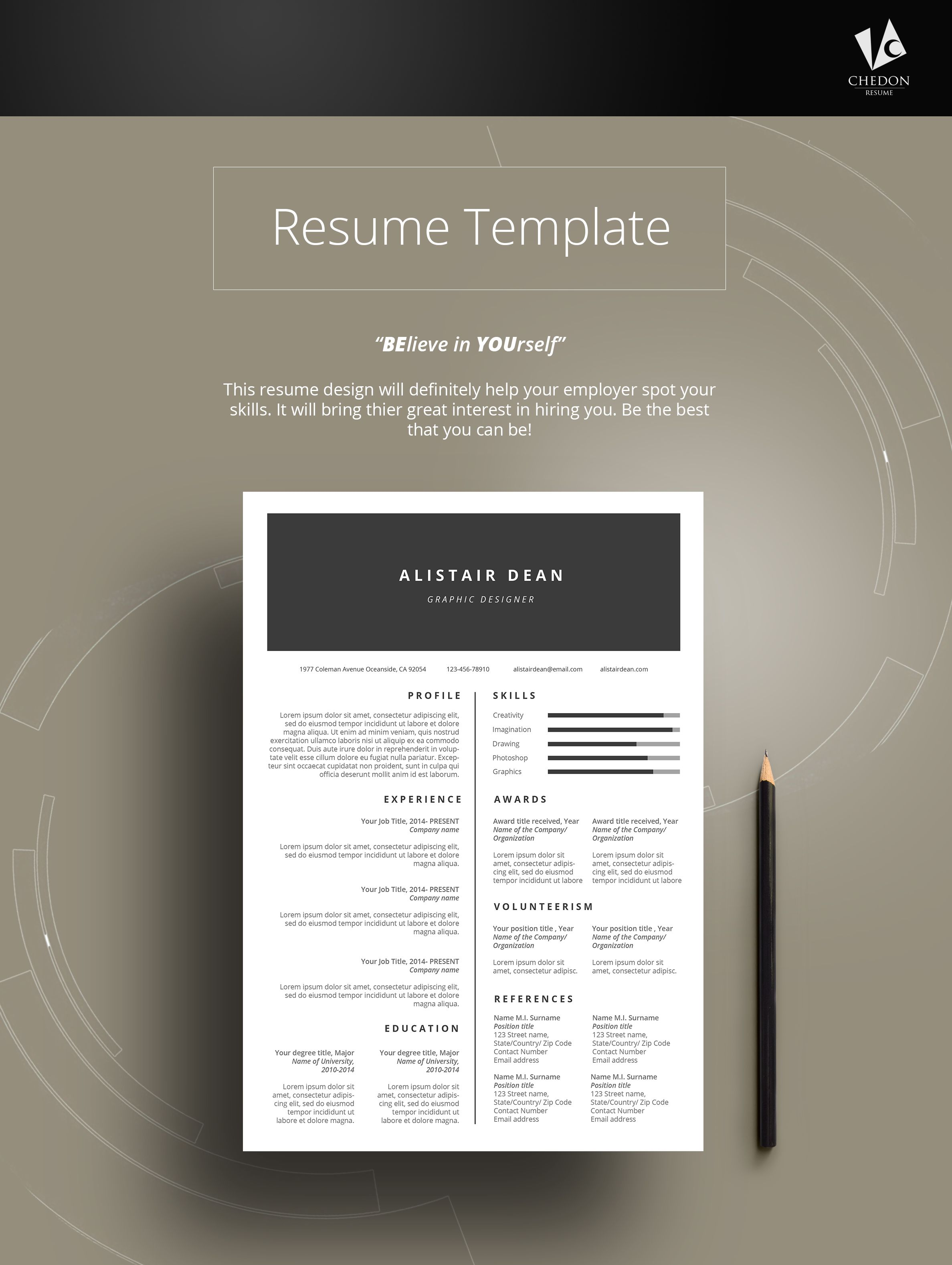 DUOSA RESUME Check this amazing resume template with FREE Cover ...