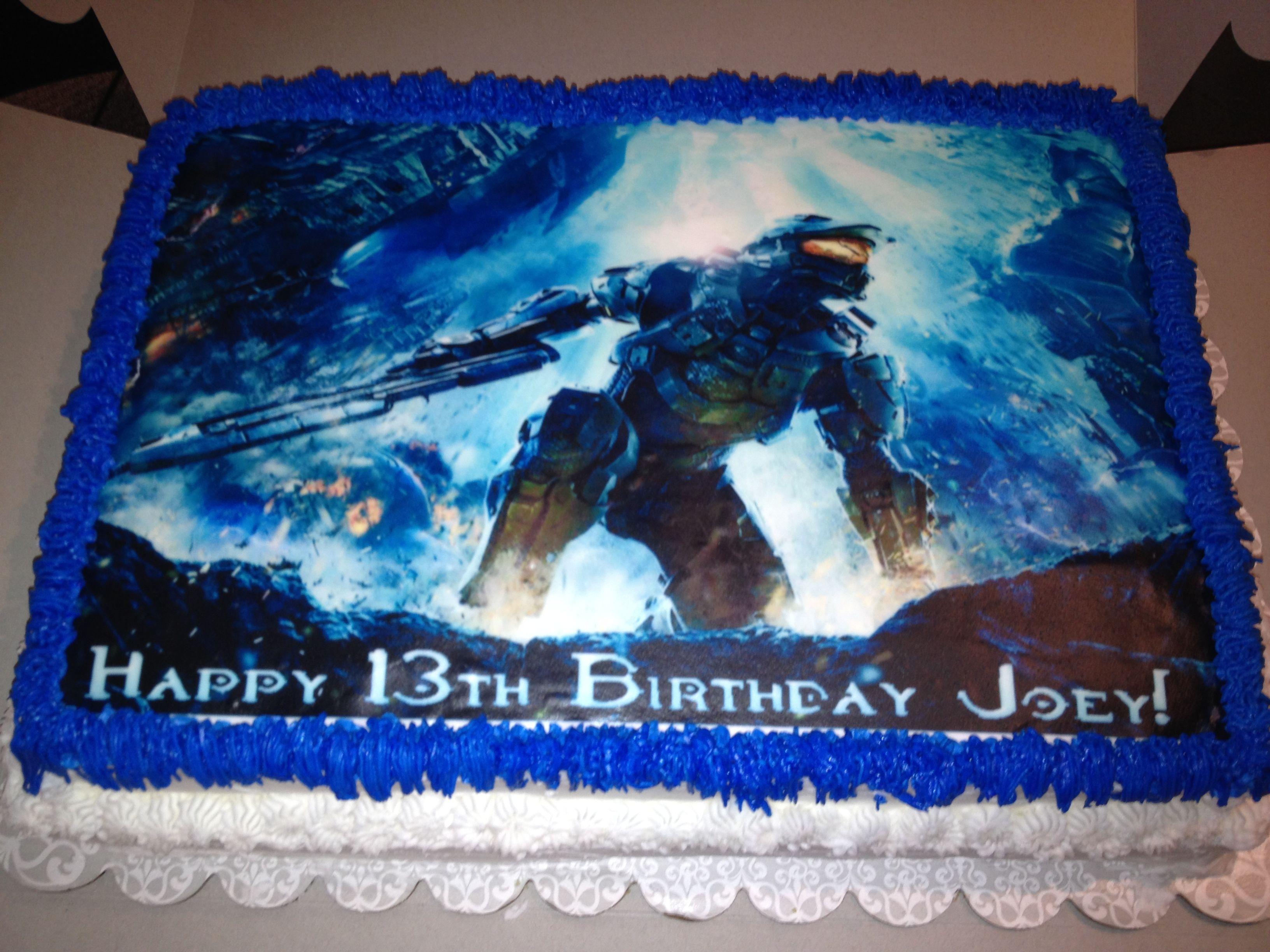 Halo Birthday Cake Blow Out The Candles Pinterest