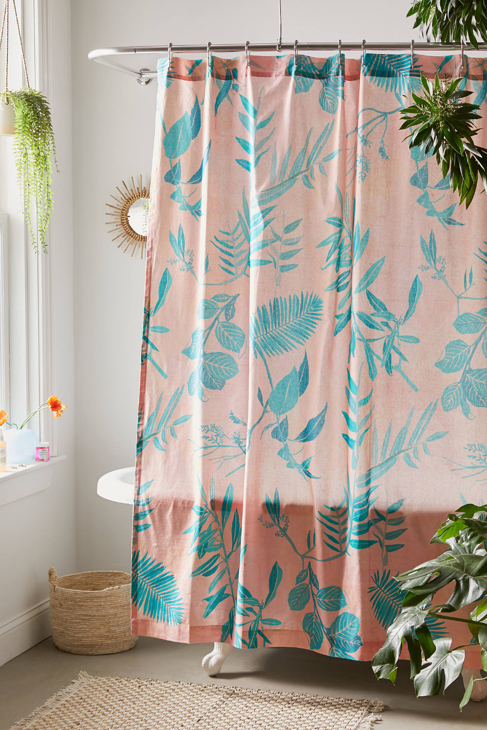 Urban Outfitters Mary Tropical Shower Curtain Tropical Shower Curtains Tropical Showers Fabric Shower Curtains