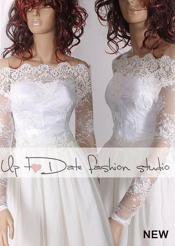 1fd69d95cbe Plus Size lace bolero Bridal Off-Shoulder by UpToDateFashion