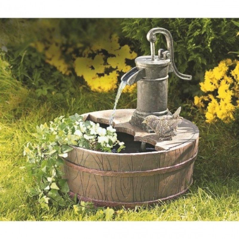 Brunnen Garten Holz Gartengestaltung Ideen Garten Pinterest
