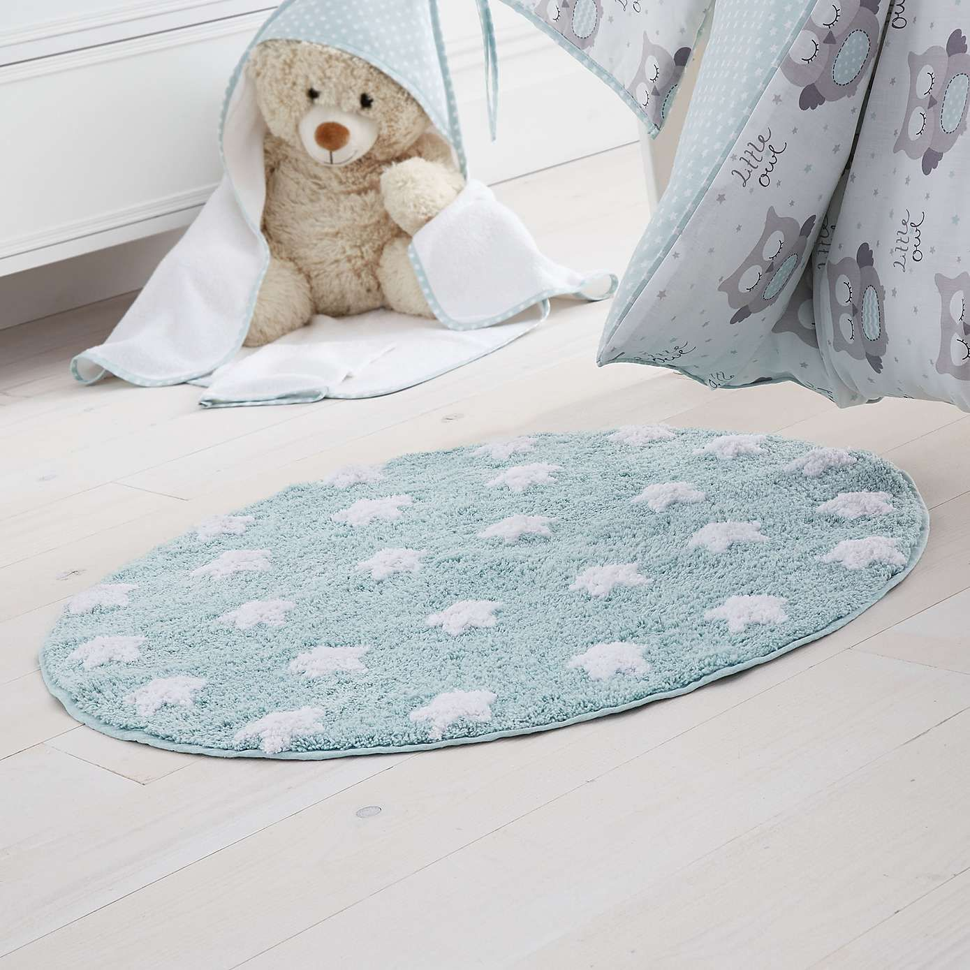 Little Owls Nursery Rug Dunelm