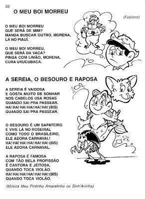 Esquema Corporal Animais Projeto Musica Educacao Infantil