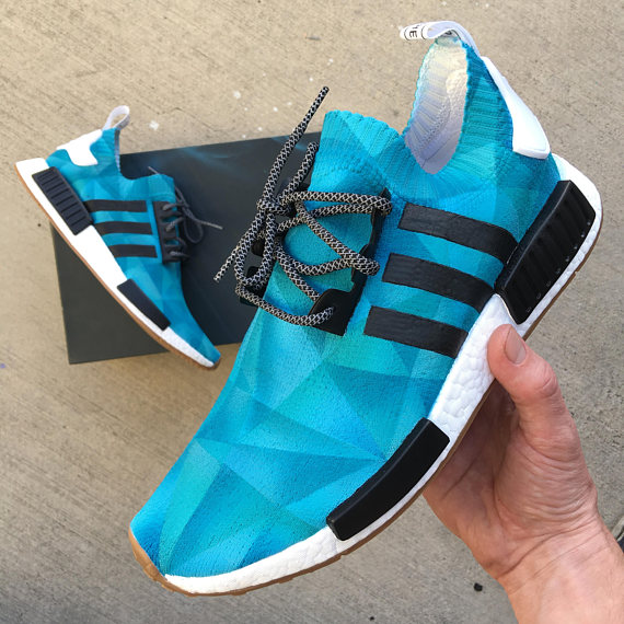 Items similar to Custom Painted Adidas NMD Sneakers - Monochromatic Prism  on Etsy