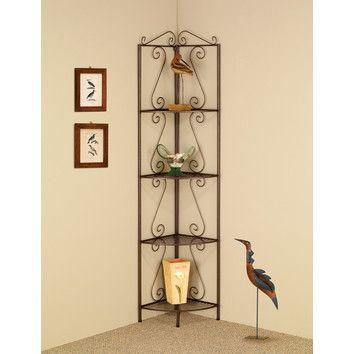 Wildon Home ® 4 Tier Corner Shelf