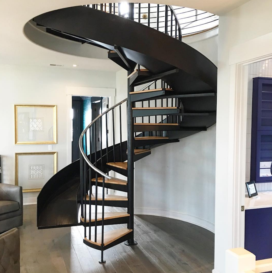 Best Circular Staircase With Slide Artisan Signature Homes 400 x 300
