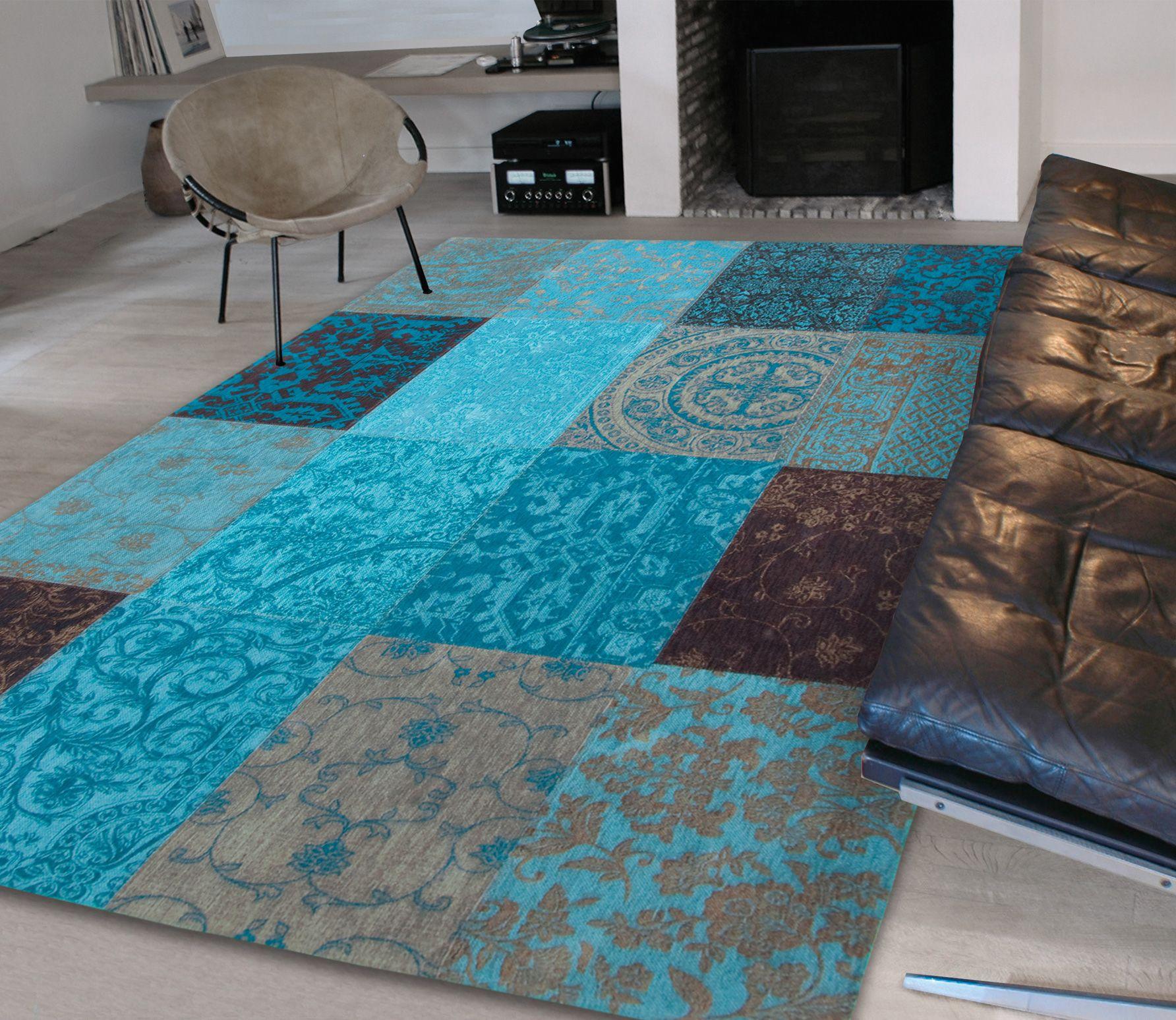 vintage vloerkleed turquoise diverse afmetingen 280 x 360 cm vloerkleden bestel bij. Black Bedroom Furniture Sets. Home Design Ideas