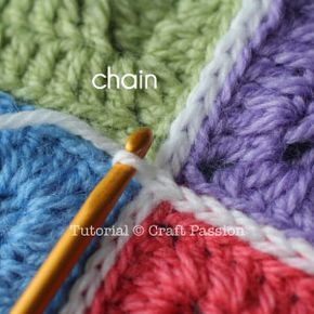 Flat Slip Stitch Join For Granny Squares Projects Pinterest