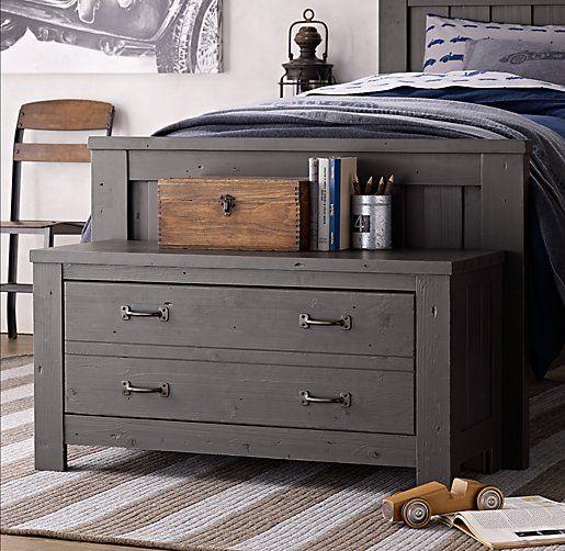 Kenwood End Of Bed Chest Home Bedroom Dresser As Nightstand Rustic Hardware