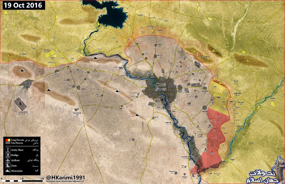 Map Area gained by Opposition factions FSA