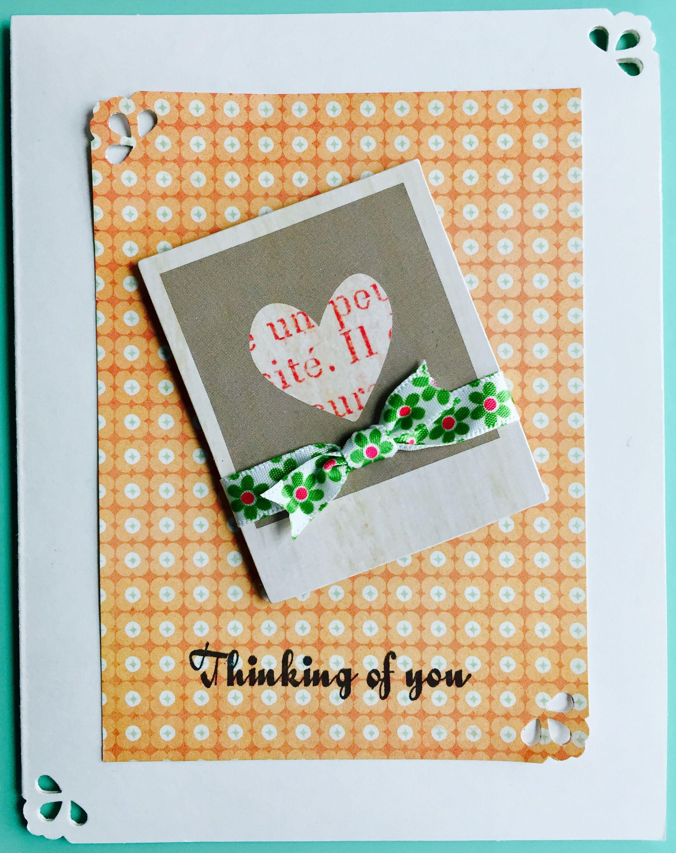 Beautiful Sympathy Thinking Of You Greeting Cards Colorful Orange