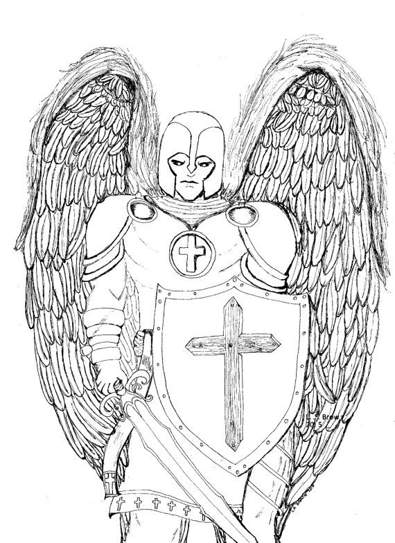 Guardian Angel Is A Simple Yet Profound Coloring Page Based On