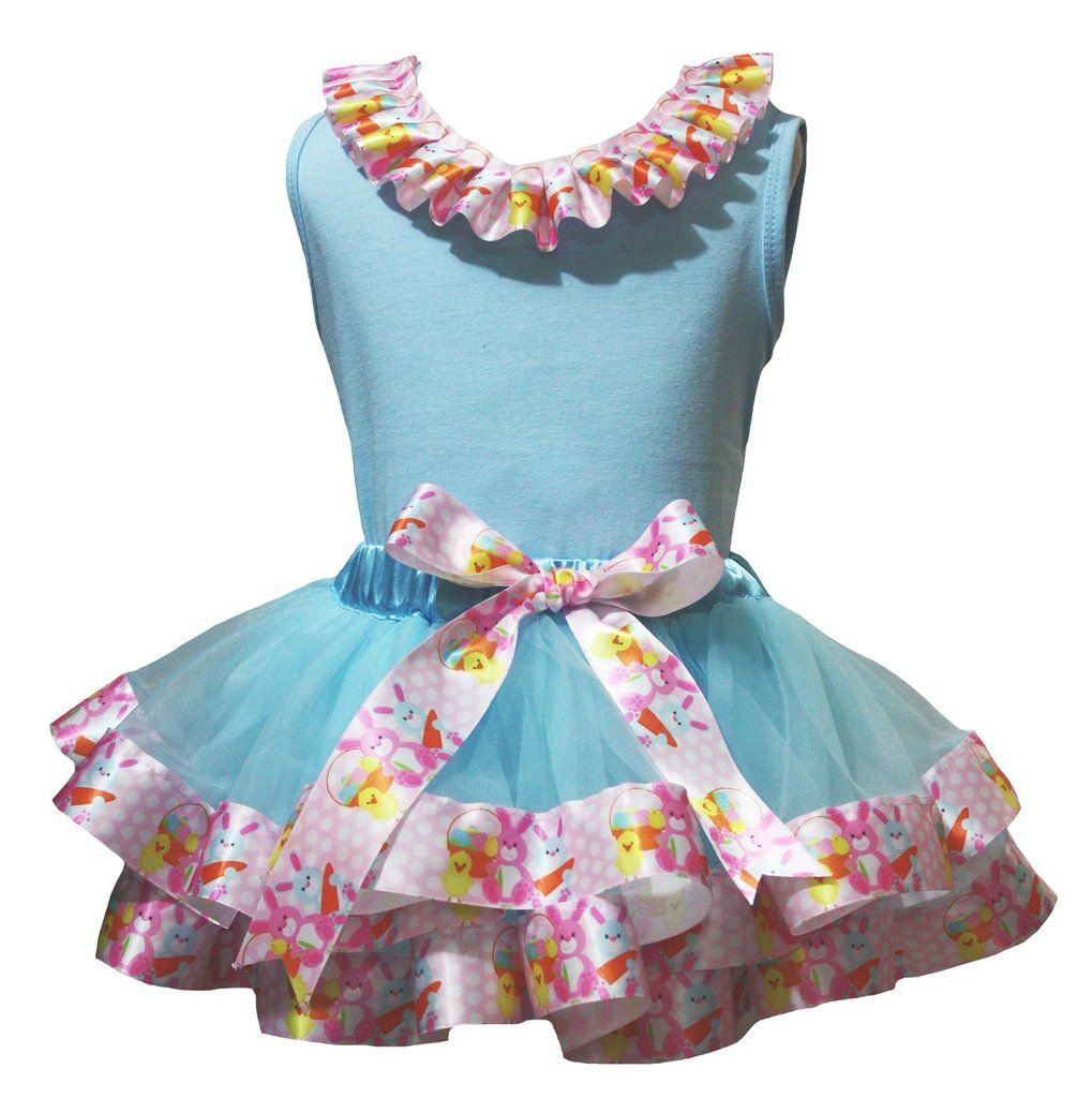 Petitebella My 4th Birthday Shirt Light Blue Sliver Petal Skirt Outfit Set Nb-8y