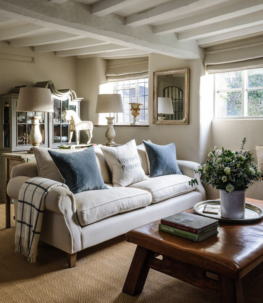 Homes U0026 Antiques. Jason Ingram. Soft Corners, Chalky Shades On The Walls  And. Cottage Living RoomsCountry ...