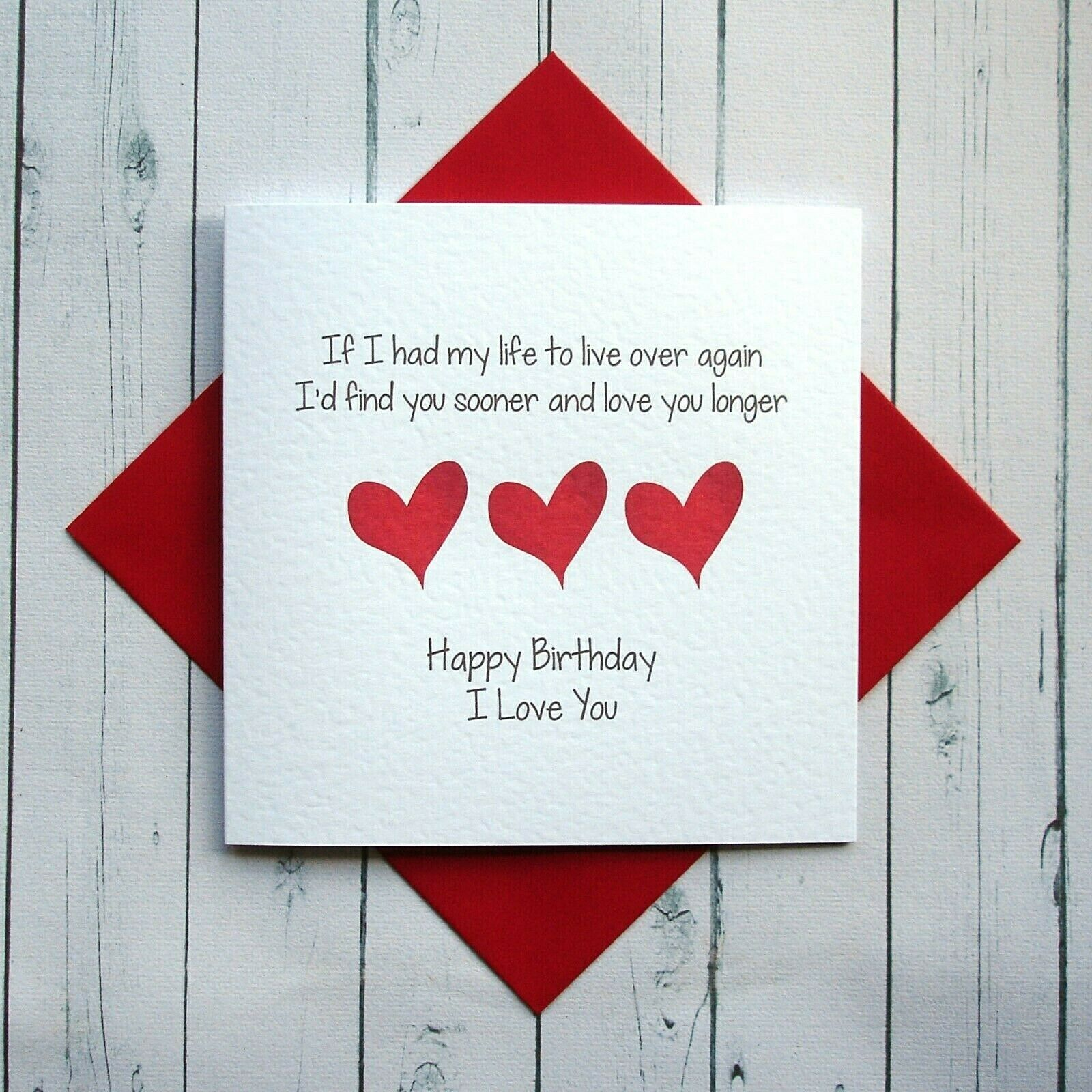 Details About Birthday Card Wife Husband Girlfriend Boyfriend