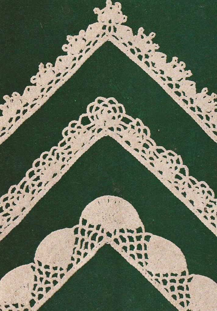 Patrón #399: Encajes y puntillas para manteles a Crochet | CTejidas ...
