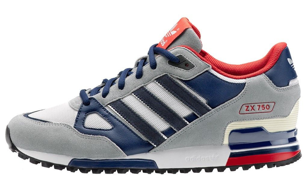 Mens New Adidas Originals ZX 750 Q35454 Grey Blue Nike USA TrainersChristmas Day