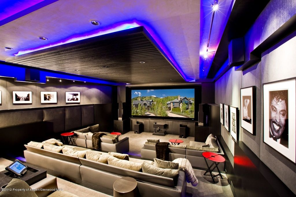 home theater acoustic design. Contemporary Home Theater with can lights  Acoustic panels High ceiling panel