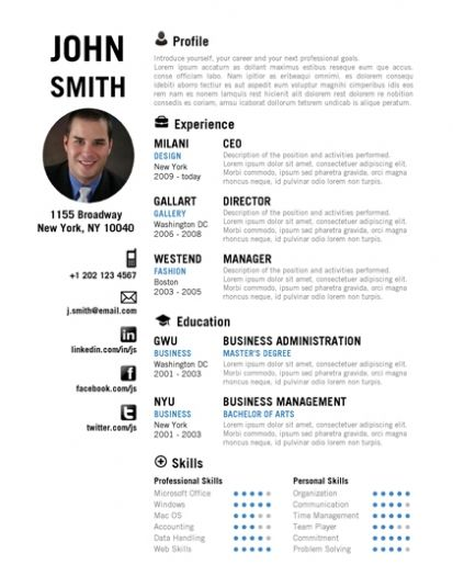 College Students Resume Samples template Pinterest Student