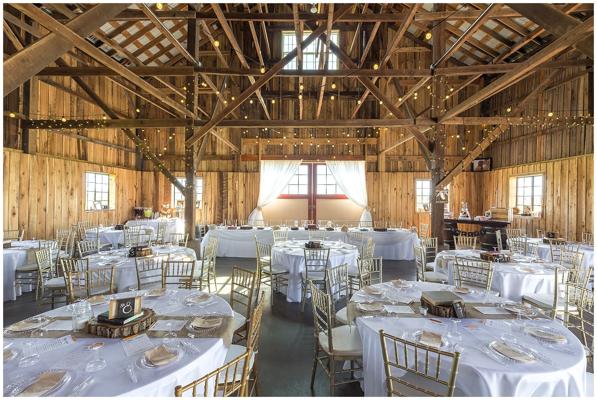 Evans Orchard Event Barn Wedding Reception In Georgetown Kentucky Farm Church Pews