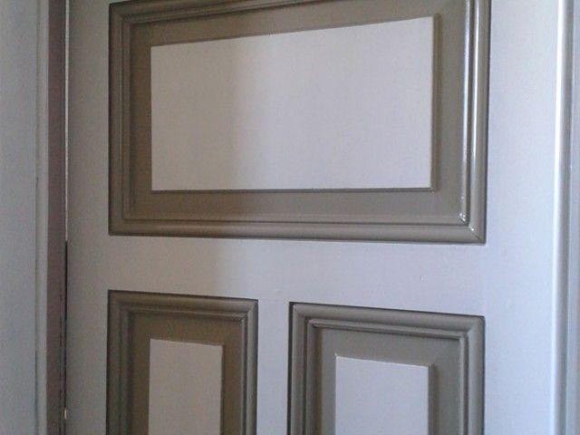PEINTURE GRISE SUR UNE PORTE DE PLACARD Peinture de porte