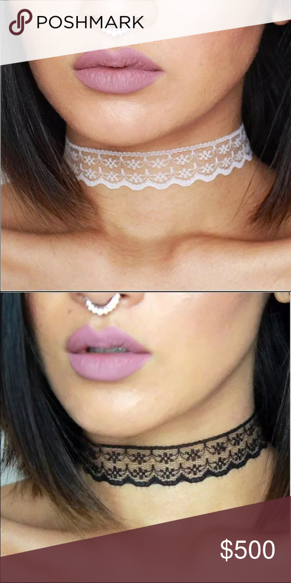 NEW! 💕Lace choker necklaces white black Sexy lace chokers in white or black adjustable length at back with clasp WILA Jewelry Necklaces