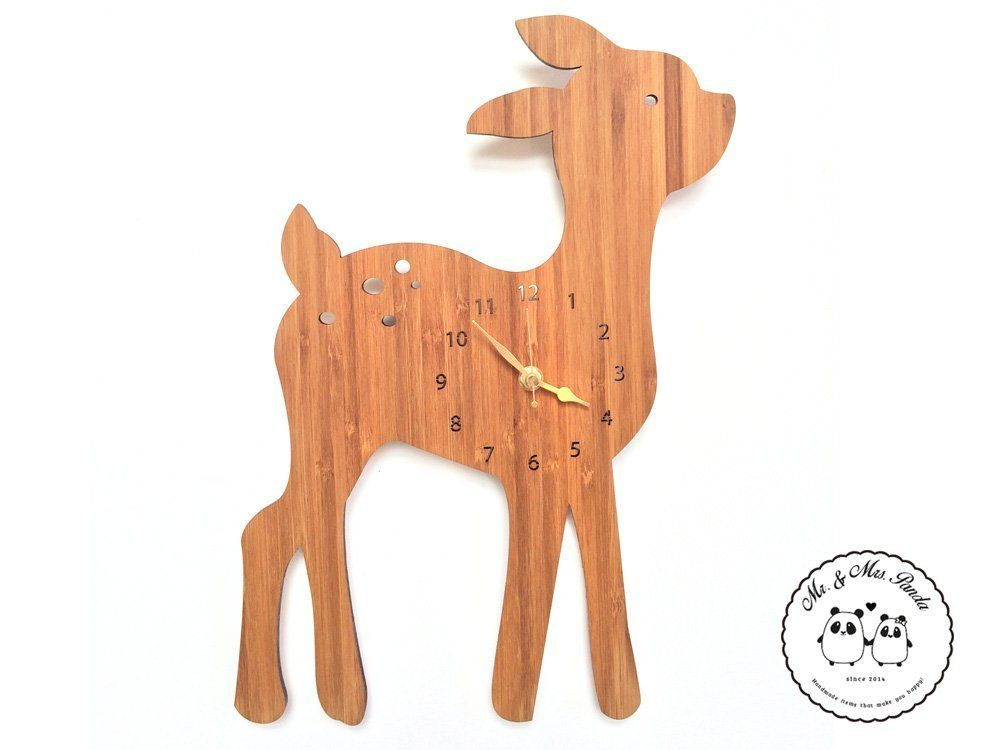 Wanduhr Reh 100 Handmade In Norddeutschland Reh Wald Bambi