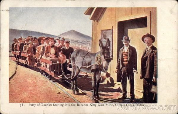 Cripple Creek District CO Part of Tourists Starting Into the Bonanza King Gold M