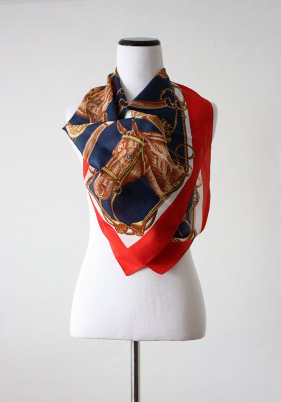 vintage equestrian scarf.   in the shop   Pinterest ...