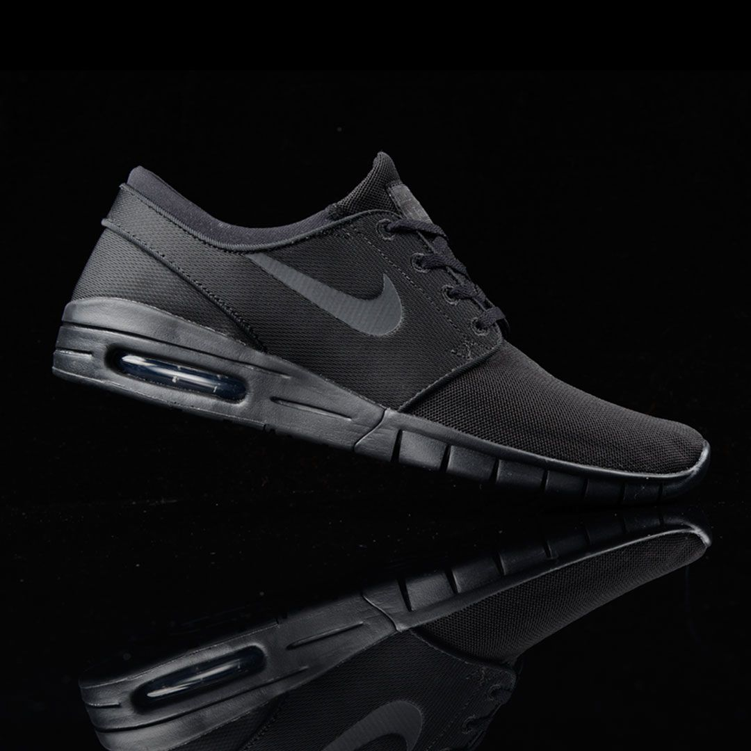 Nike SB Stefan Janoski Air Max Black and Anthracite Mesh Skate Shoes |  Zumiez