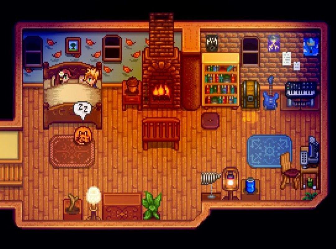Goodnight Husband & Kitty >Stardew Valley>House Interior