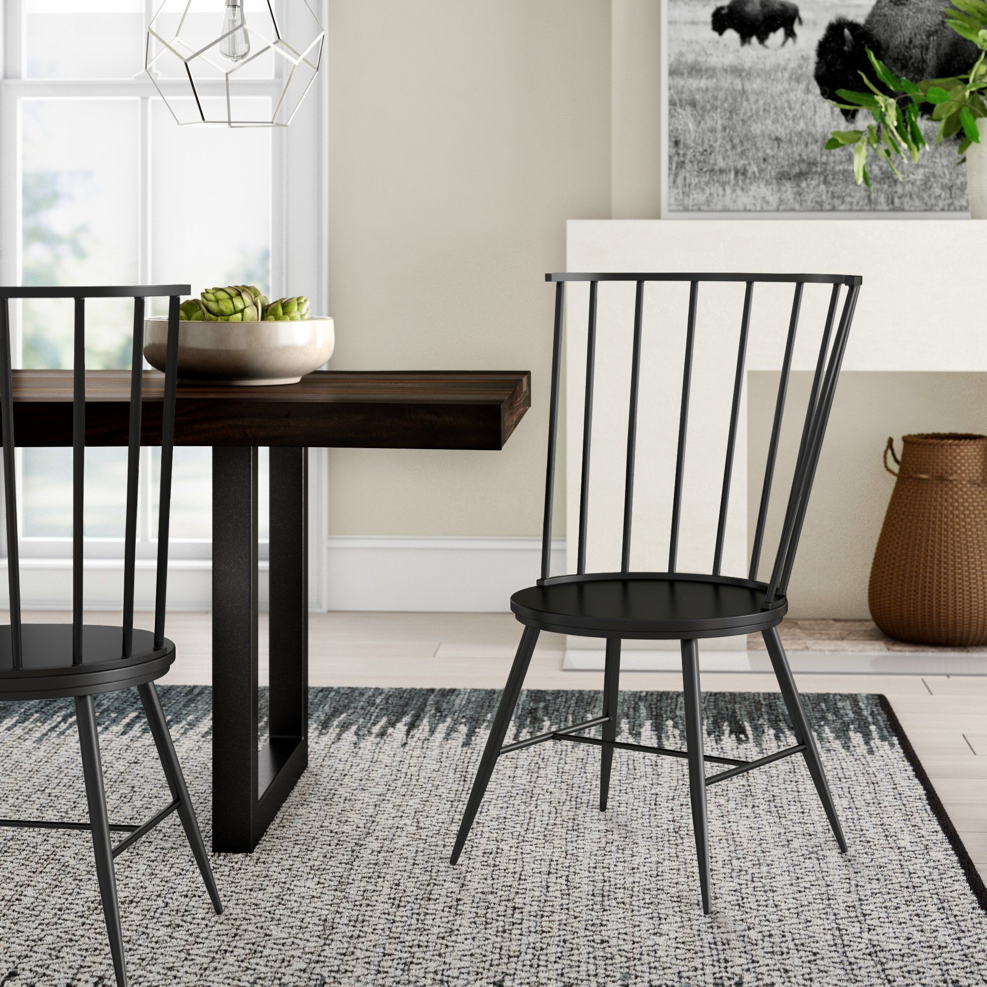 Black Kitchen Dining Chairs You Ll Love Wayfair Dining