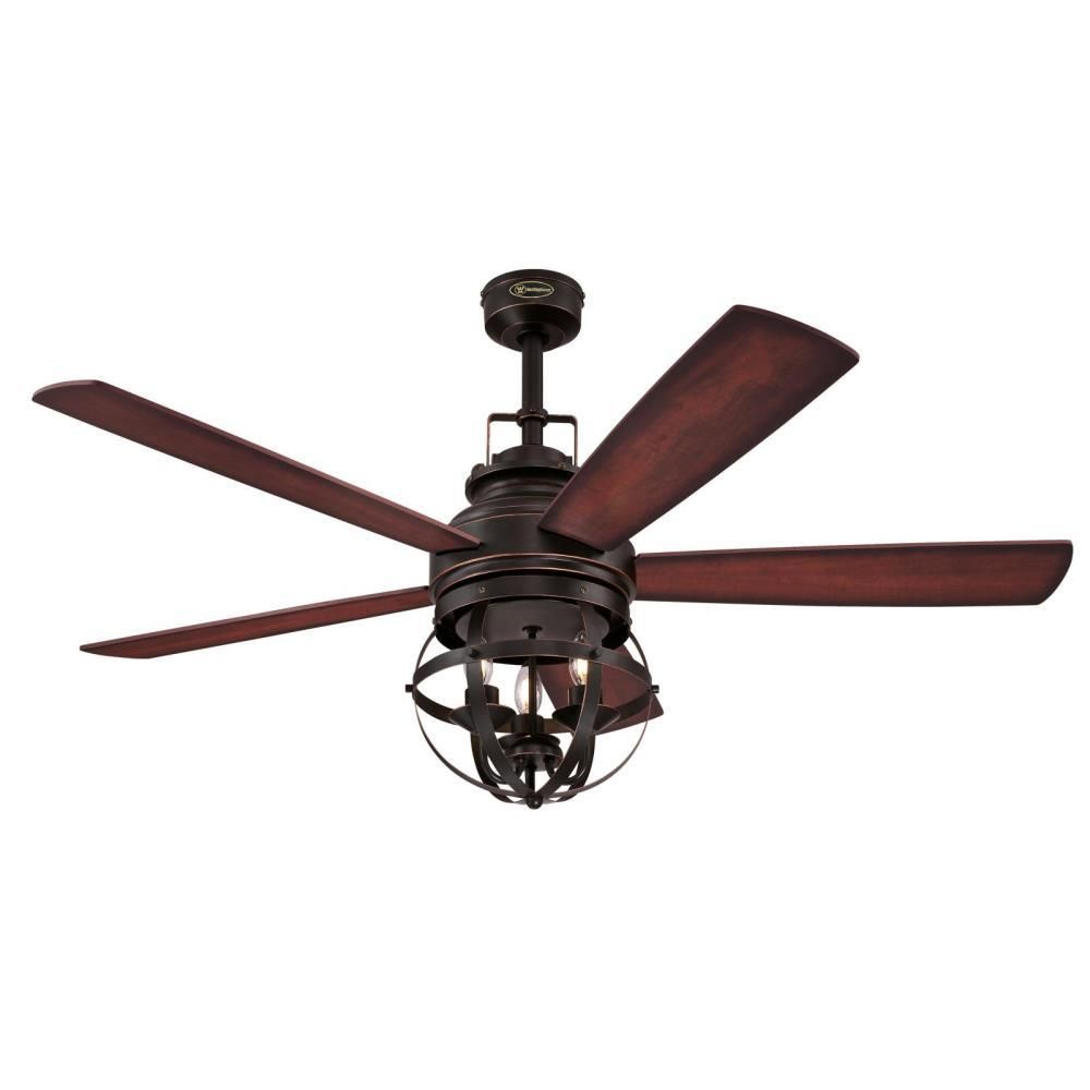 westinghouse stella mira 52 in indoor oil rubbed bronze ceiling fan rh pinterest com