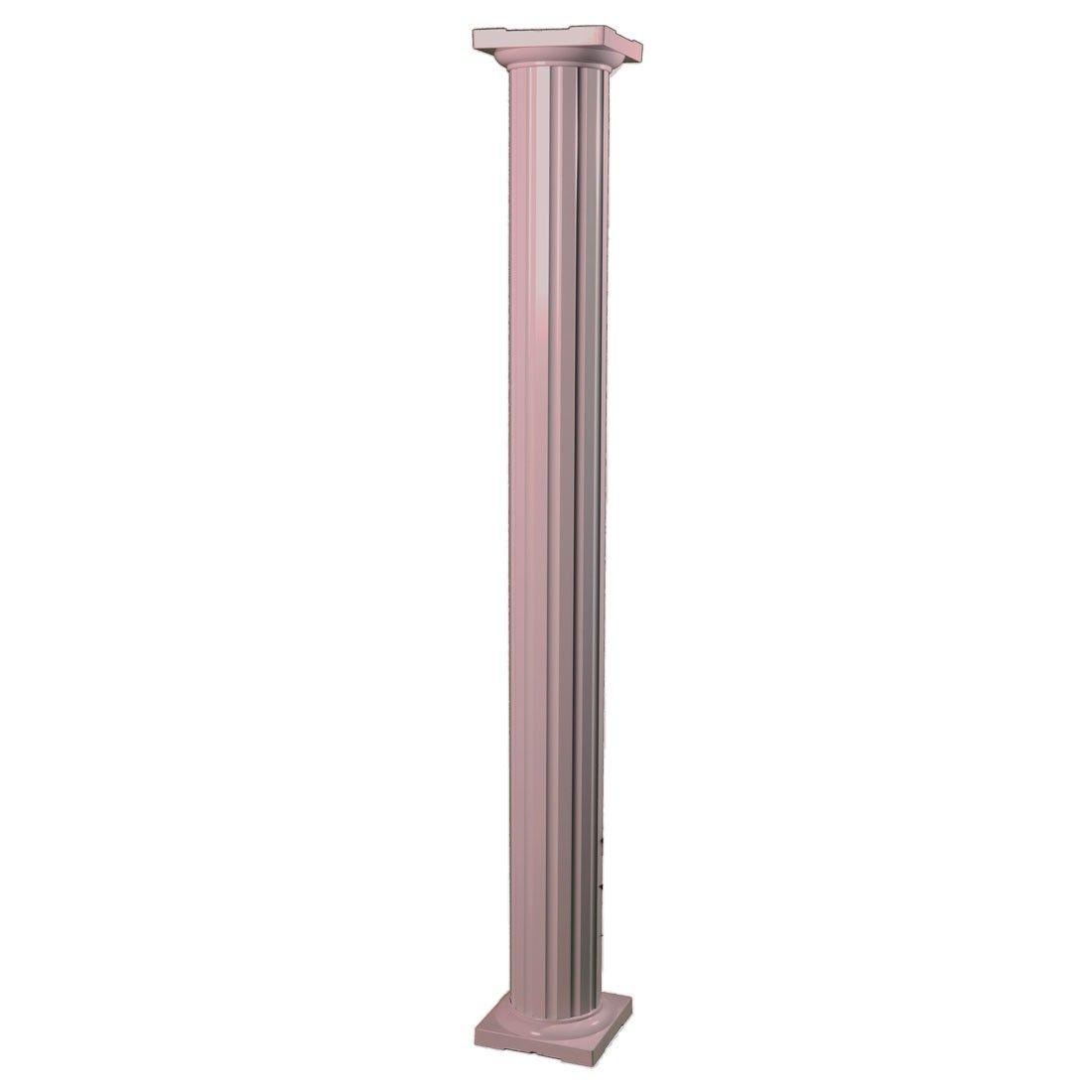 10 Round Fluted Aluminum Column Wrap Sandstone Multiple Heights Column Wrap Porch Column Wraps Columns Decor