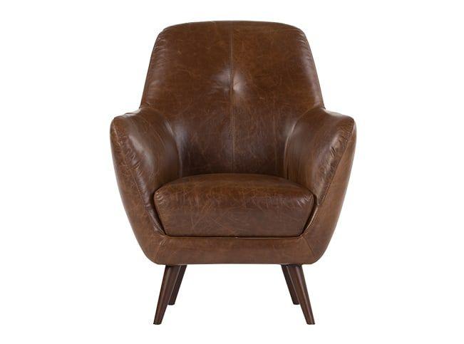 Best Accent Chair Antique Cognac Leather Prado Armchair 400 x 300