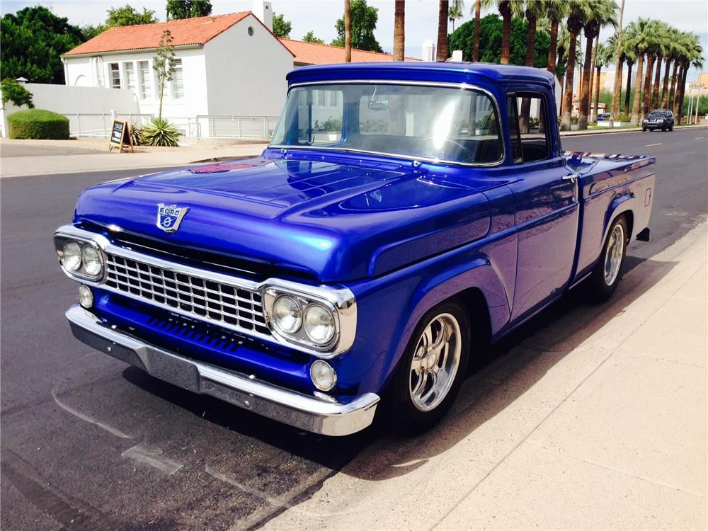 1958 Ford F 100 Custom Pickup Front 3 4 182213 Classic
